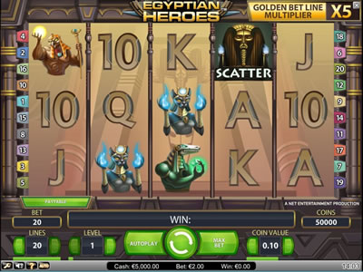 Egyptiona Heroes Netent slot